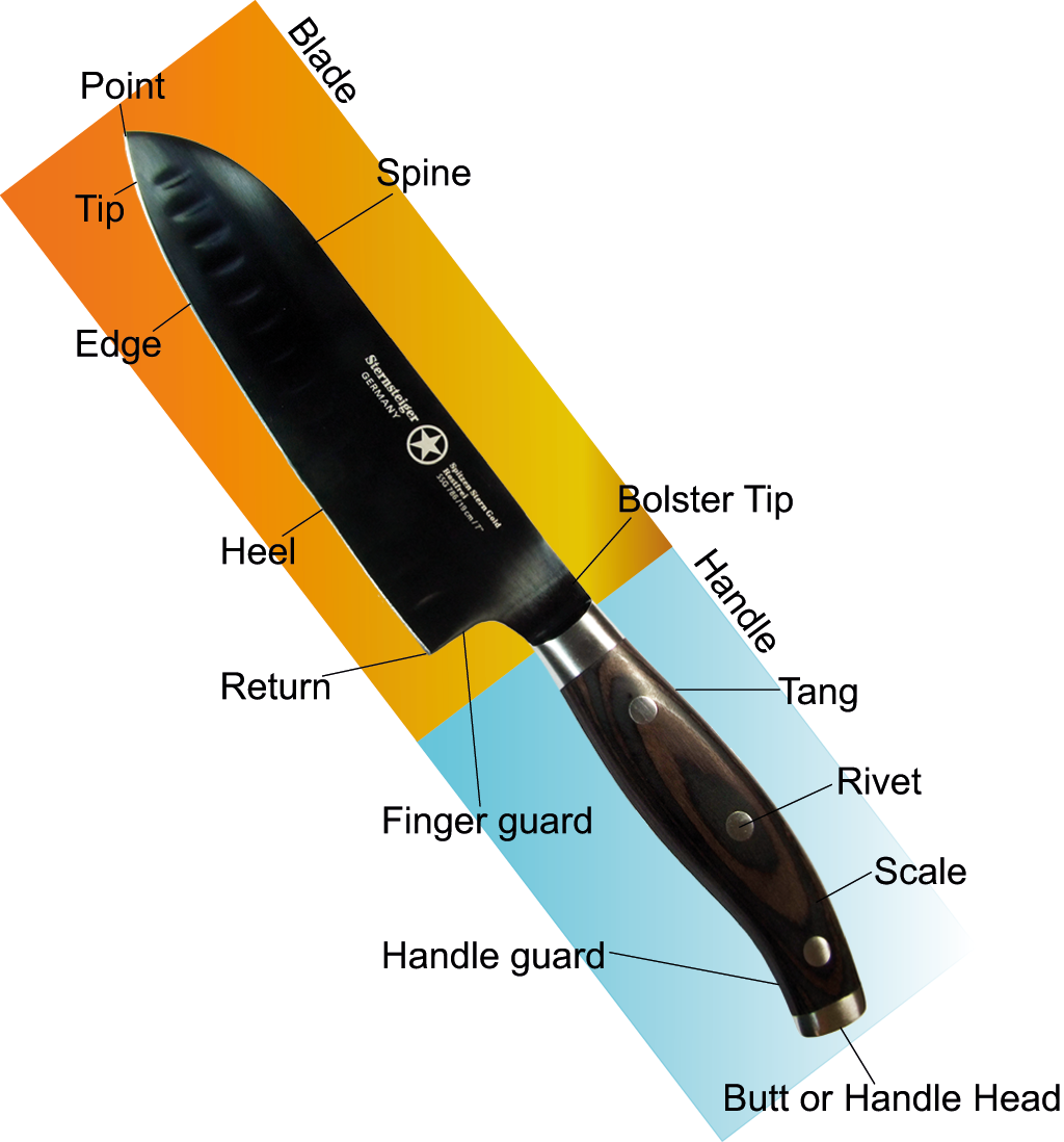 Illustration of Knife Components